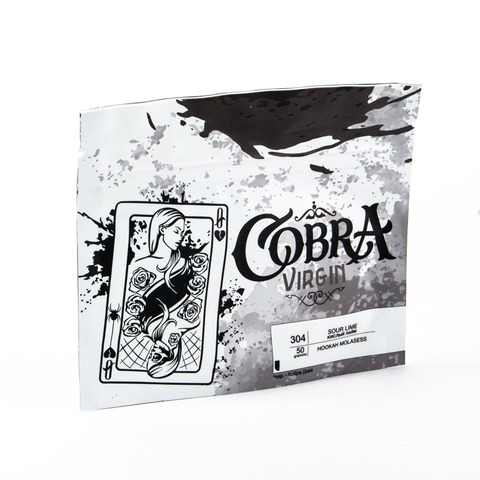 Кальянная смесь Cobra VIRGIN 50 г Кислый Лайм (Sour Lime)