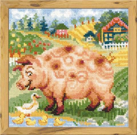 Набор для вышивания крестом «Хуторок. Свинка» (1523)