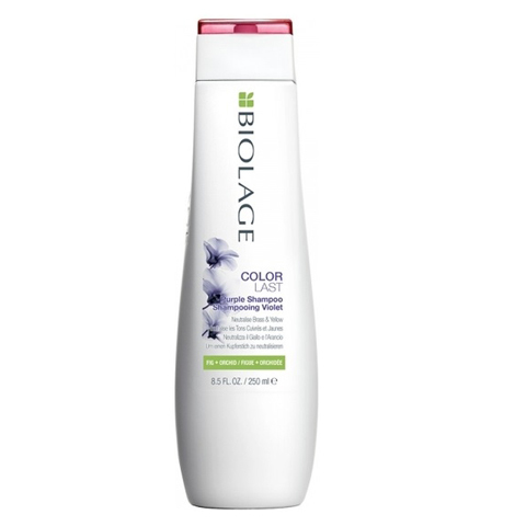 Matrix Biolage Colorlast: Фиолетовый шампунь для нейтрализации желтизны (Colorlast Purple Shampoo), 250мл/1л
