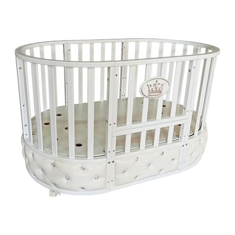Кровать детская Антел Северянка-4 с мягкой вставкой белая