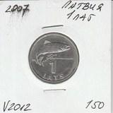 V2012 2007 Латвия 1 лат