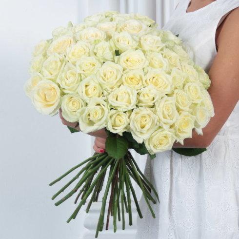 Букет цветов 51 белая роза