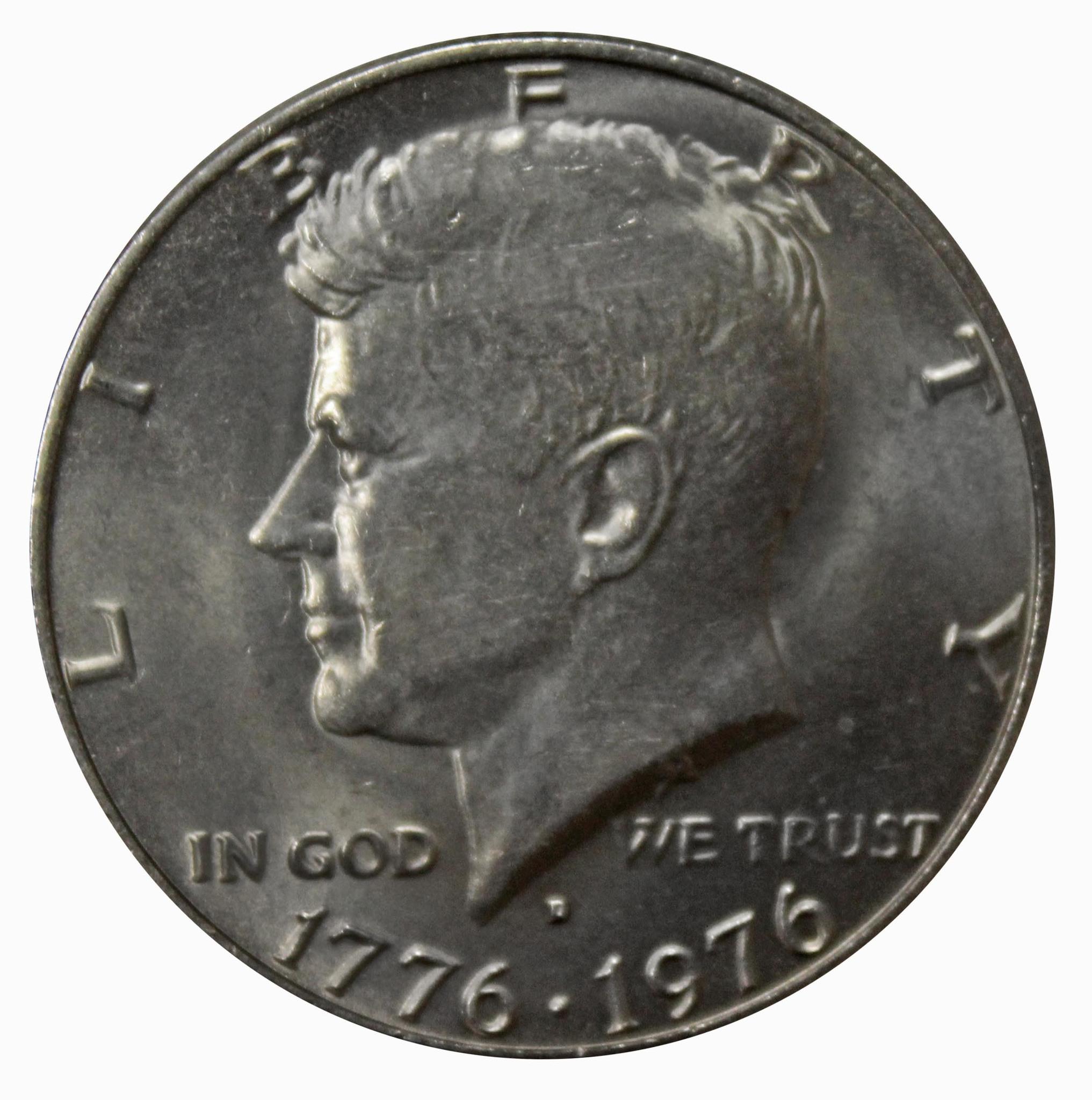 50 центов США. 200 лет независимости Америки. Кеннеди-Башня. 1976 год. UNC