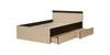 Кровать «Ольга-13» 1600 (венге/млечный дуб), ЛДСП, Фант-мебель
