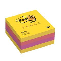 Стикеры Post-it Original Лето 76х76 мм неоновые 3 цвета (1 блок, 400 листов)