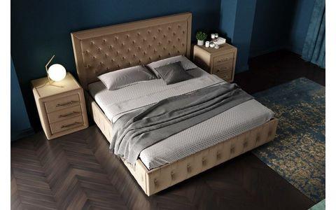 Кровать Барселона с мягким изголовьем