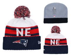 Шапка вязаная с помпоном и с логотипом НФЛ Нью-Ингленд Пэтриотс  (NFL New England Patriots)