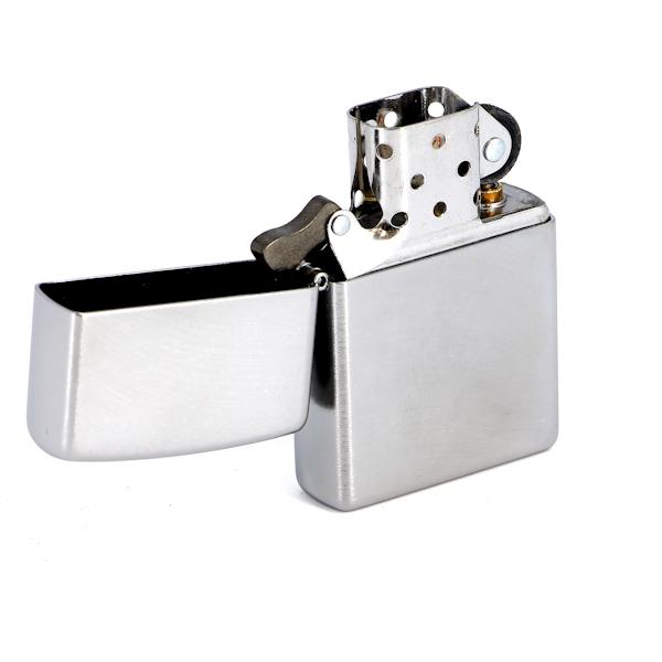 Зажигалка Zippo с покрытием Chrome Arch, латунь/сталь, серебристая, матовая, 36x12x56 мм