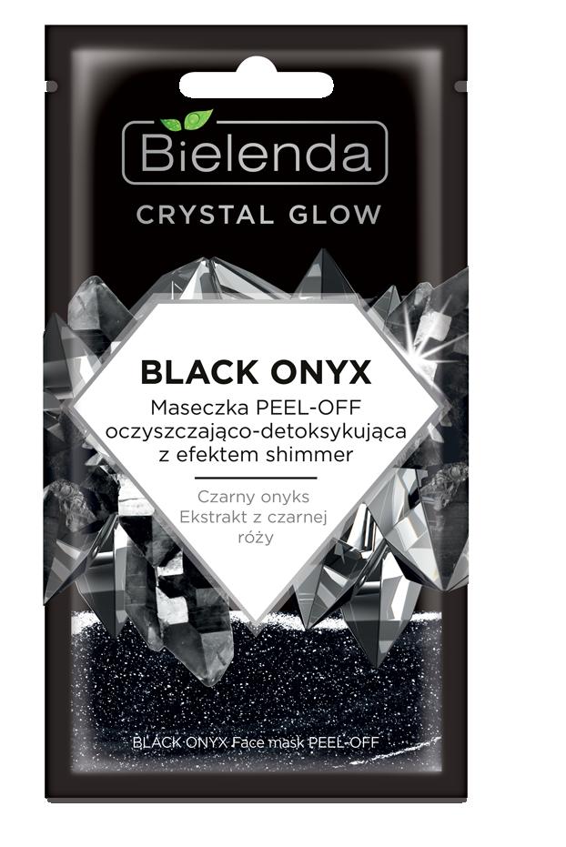CRYSTAL GLOW BLACK ONYX маска для лица PEEL-OFF очищающая c эффектом мерцания 8мл