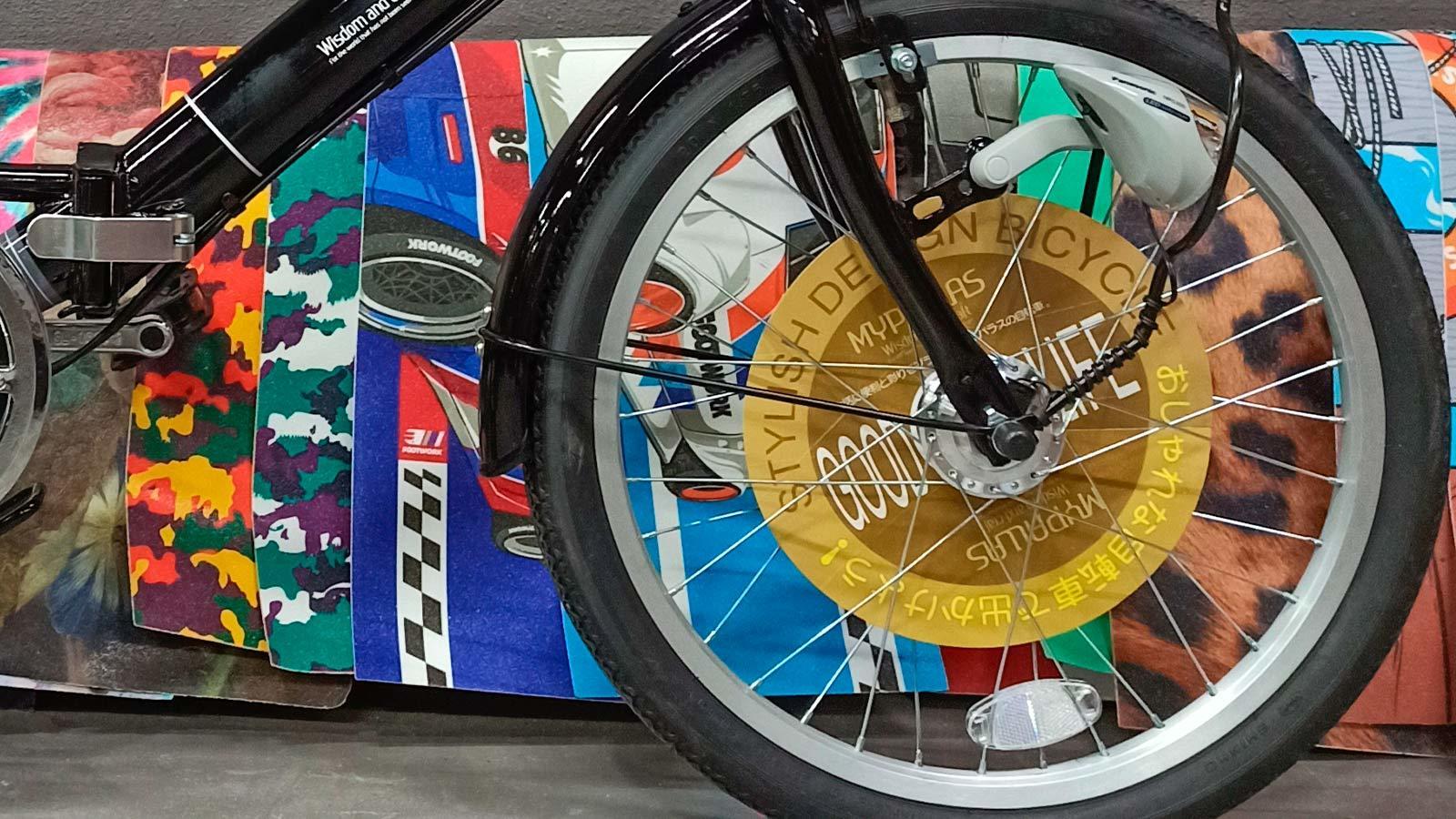 переднее колесо городского велосипеда
