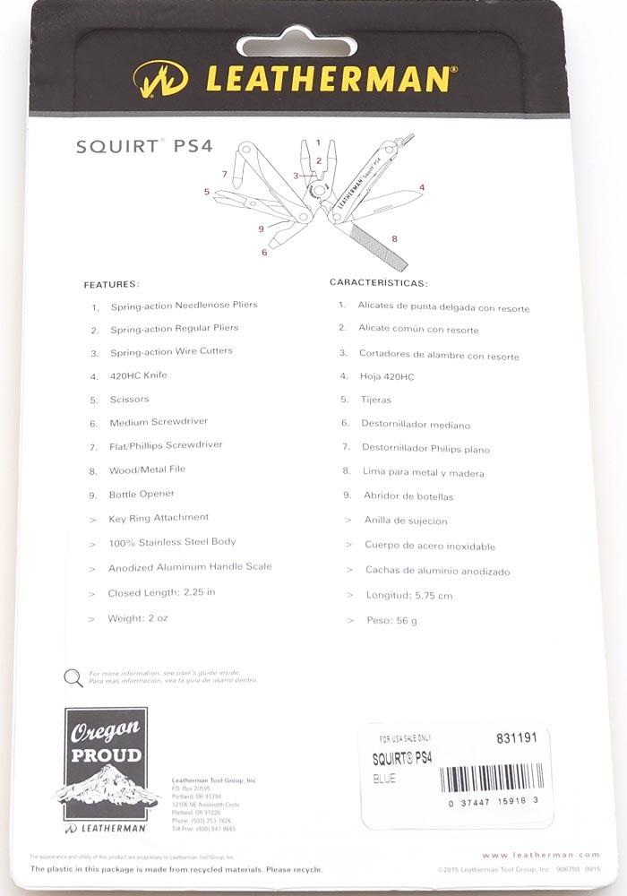 Мультитул Leatherman Squirt PS4 черный - фотография