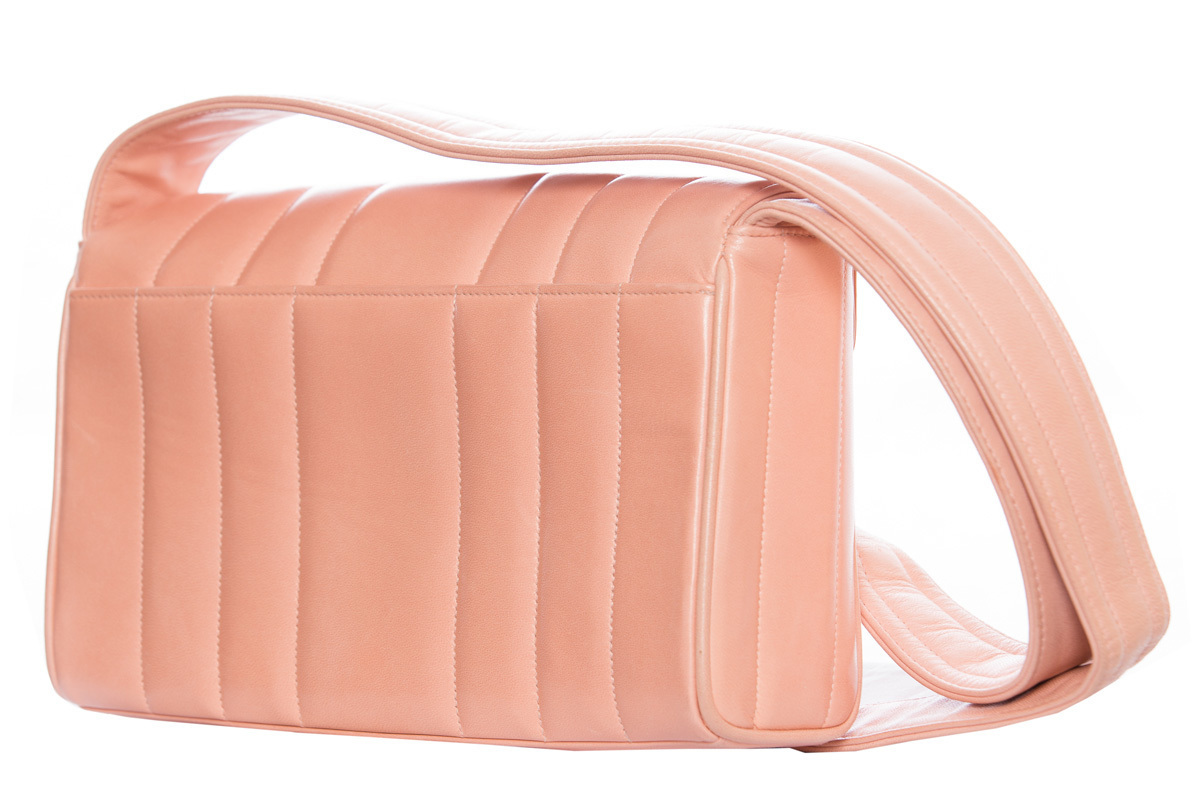 Beautiful Chanel pale pink leather handbag