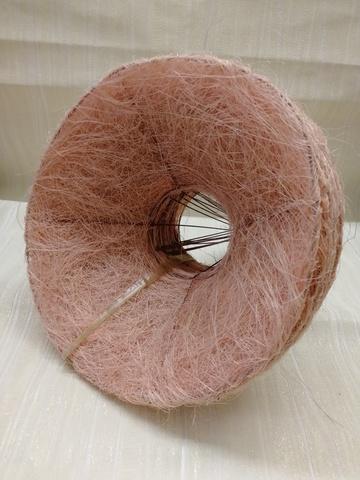 Каркас для букета гладкий (сизаль, диаметр: 15 см) Цвет: светло-розовый