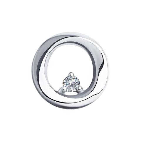 1030791 - Подвеска из белого золота с бриллиантом