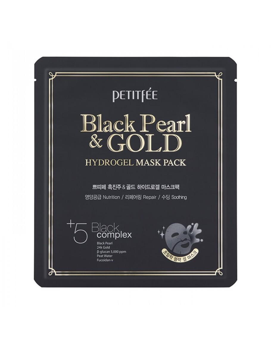 Гидрогелевые маски Маска для лица гидрогелевая ЖЕМЧУГ/ЗОЛОТО PETITFEE BLACK PEARL & GOLD HYDROGEL MASK PACK 32 гр m25-910x1155.jpg