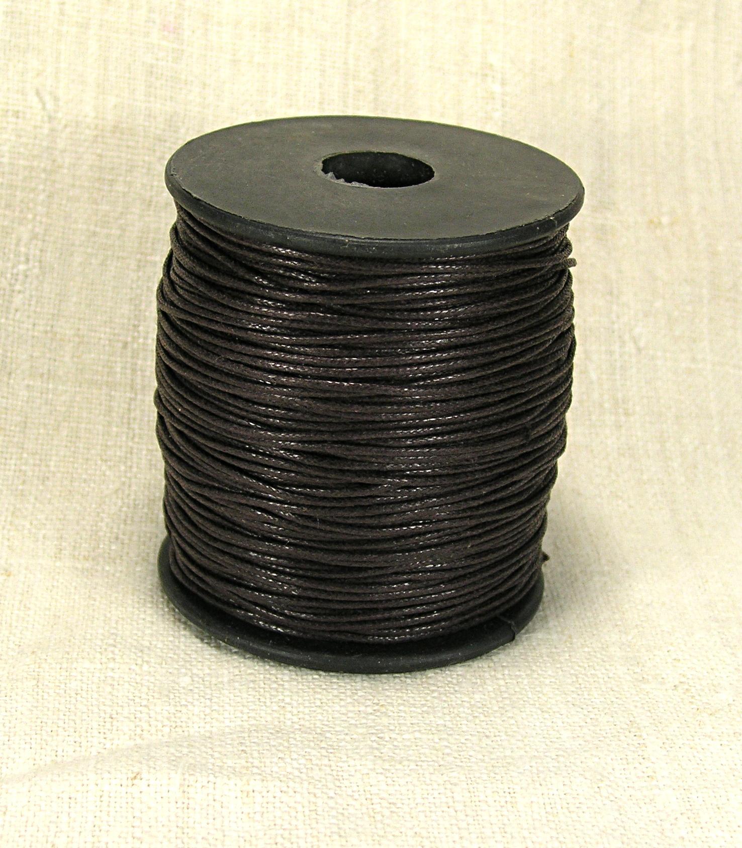 Шнур вощеный, коричневый, 1 мм (1 метр)
