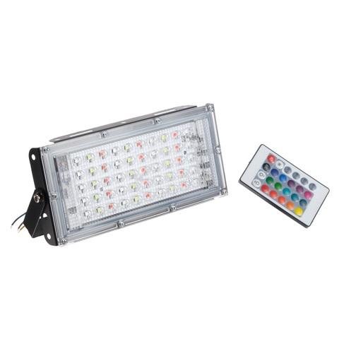 Прожектор светодиодный 50 Вт RGBW с пультом управления