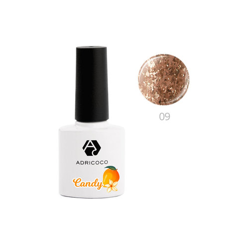 Гель-лак ADRICOCO CANDY №09 - Манго с жасмином (8 мл.)
