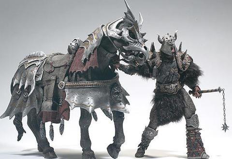Спаун фигурка Кровавый Топор и конь Громовержец Де Люкс