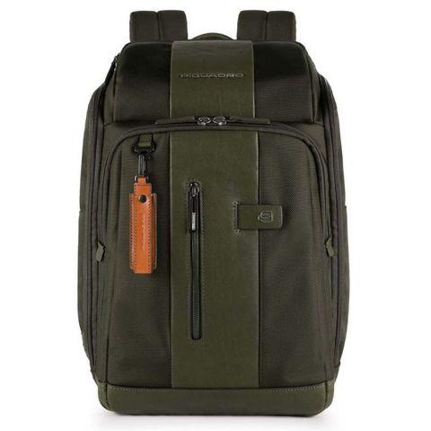 Рюкзак Piquadro Brief (CA4443BR/VE) зеленый кожа/ткань