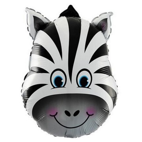 Шар фигура Голова зебры, 64 см