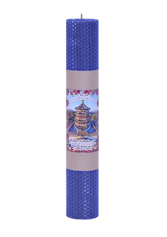 Свеча Императорский дворец синяя 30см
