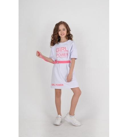 Платье белое детское трикотажное