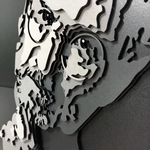 Стив Джобс от SamCraft - сборные объемные картины из дерева своими руками, покрась, собери и склей