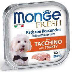 Консервы для собак, Monge Dog Fresh, с индейкой