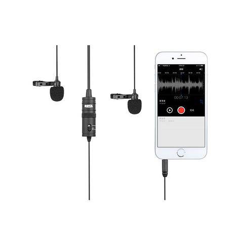 Микрофон петличный двойной BOYA BY-M1DM Стерео