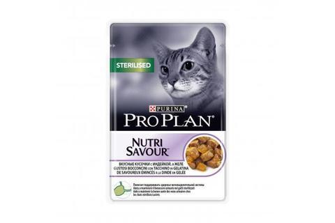 Консервы Purina Pro Plan для стерилизованных кошек и кастрированных котов, индейка в желе,  85 г