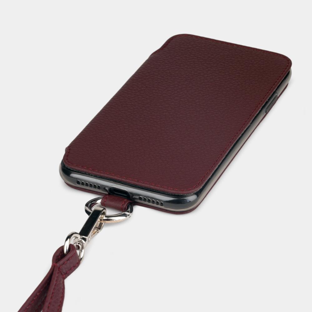 Чехол Marcel для iPhone 11 из натуральной кожи теленка, бордового цвета