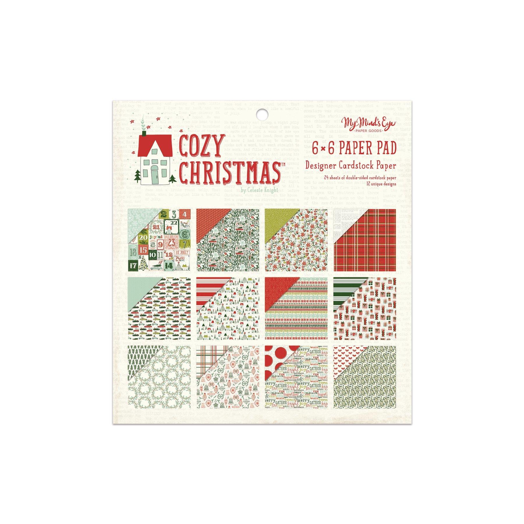 Набор бумаги 15х15 см Cozy Christmas