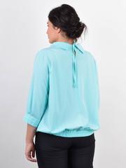 Біата. Ошатна жіноча блузка великих розмірів. М'ята.