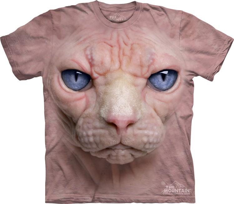 Футболка Mountain с изображением кошки сфинкса - Hairless Pussycat Face