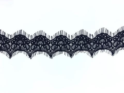 Кружево реснички чёрное (6х270 см)