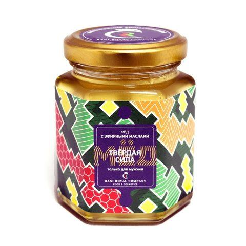 Мёд с эфирными маслами «Твёрдая сила» 240 г