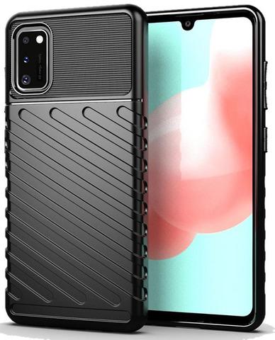 Чехол Carbon для Samsung Galaxy A41 серия Оникс | черный