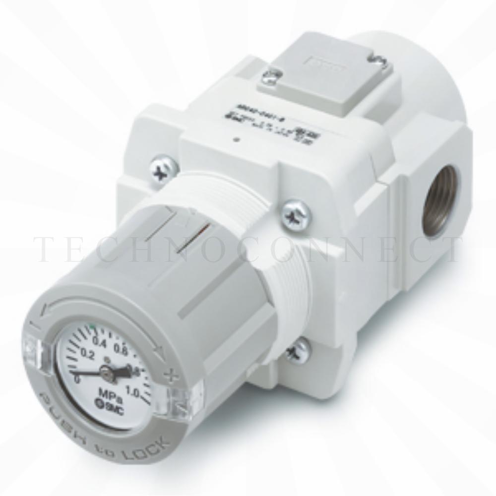 ARG40K-F02G4-B   Регулятор давления со встроенным манометром, G1/4