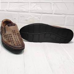 Летние слипоны туфли на плоской подошве стиль кэжуал Luciano Bellini 91267-S-321 Red.