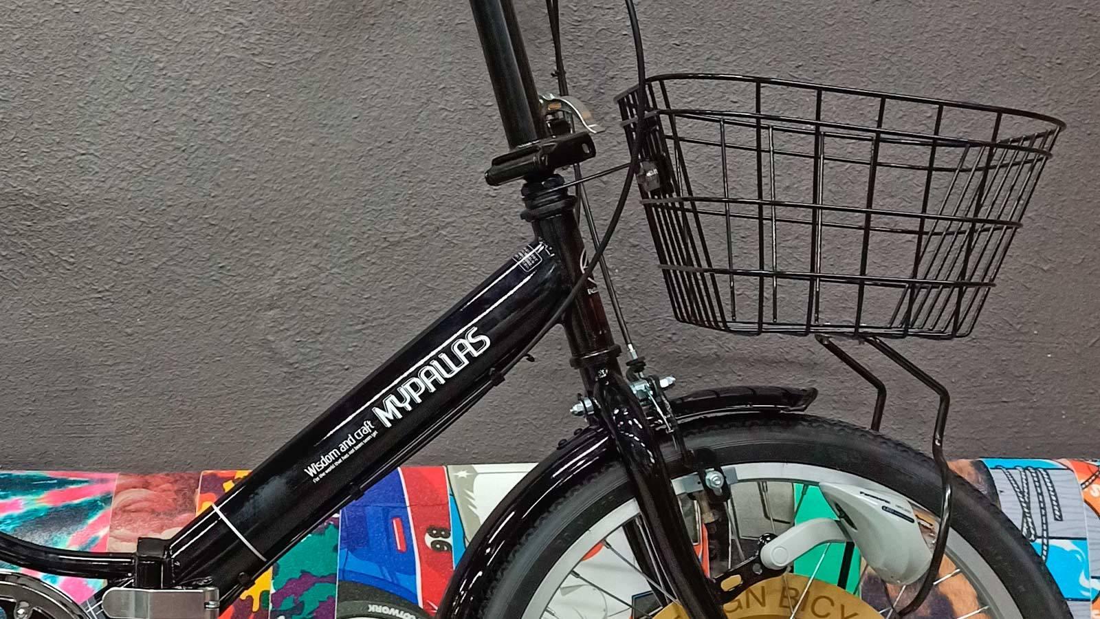 рулевая стойка и корзина взрослого складного велосипеда