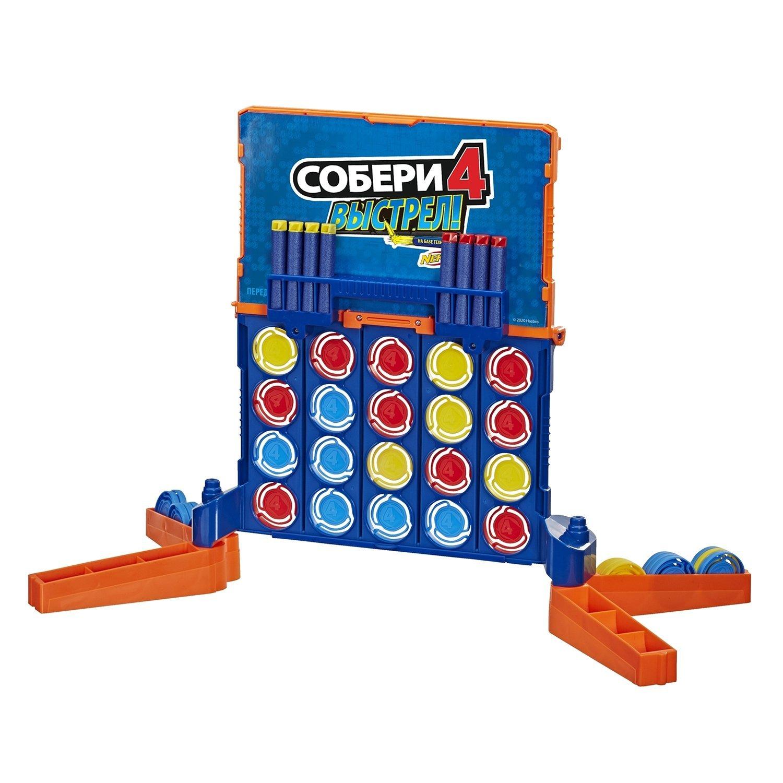 Nerf настольная игра Собери 4 Нерф