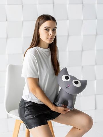 Мягкая игрушка-подушка Gekoko «Котенок Смоки» 4