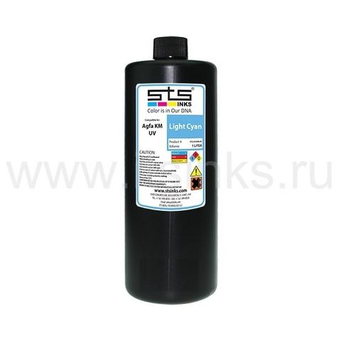 УФ - чернила STS для Agfa Jeti KM Light Cyan 1000 мл (UV Lamp)