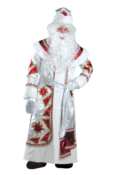 Дед Мороз серебряно - красный