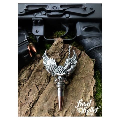 Real Bullet Design Halskette Lord of Bullet AK47 Silver