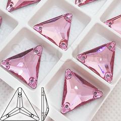Стразы пришивные Triangle Light Rose, Треугольник Лайт Розе светло-розовые на StrazOK.ru