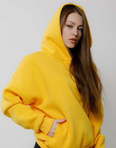 Толстовка Oversize Yellow Fl