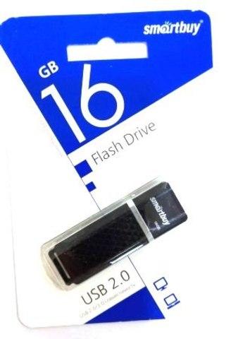 Флеш-накопитель USB  16GB  Smart Buy  Quartz  чёрный