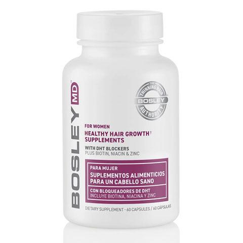 Bosley MD Hair Regrowth: Комплекс витаминно-минеральный для оздоровления и роста волос - для Женщин (For Women Healthy Hair Growth Supplements - US), 60капсул